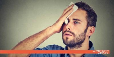 Transpirațiile reci, simptom al infarctului miocardic și al hipoglicemiei !